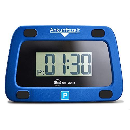 achilles Parkwächter Digitale Parkscheibe entspricht der Straßenverkehrsordung elektronische Parkuhr für das Auto in blau 111 x 72 x 25 mm
