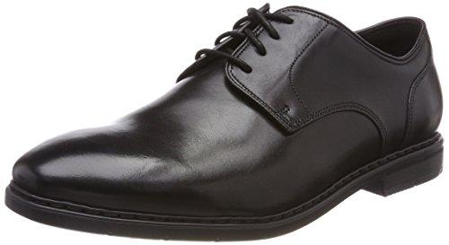 Clarks banbury lace, scarpe stringate derby uomo, nero (black leather-), 41.5 eu
