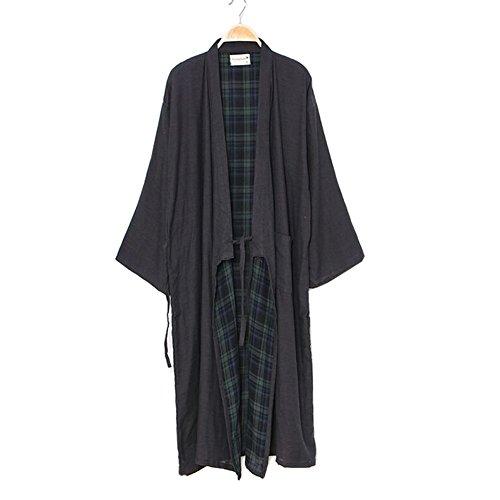 Robes de style japonais pour hommes Kimono Robe Pur coton peignoir pyjamas # 05