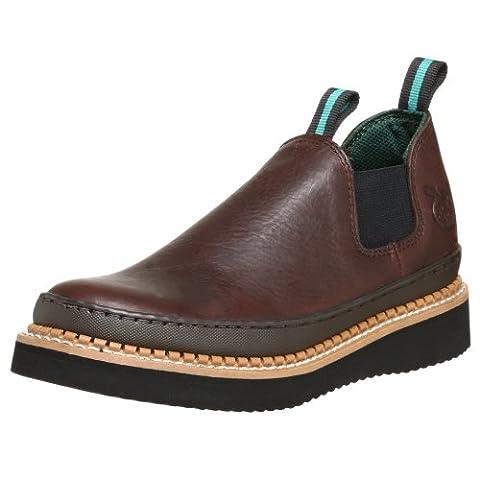 Georgia Boot Men's GR274 Giant Romeo Work Shoe, Soggy Brown, 7.5 W US
