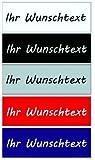 Namensschild Briefkastenschild Türschild in vielen Farben in Kunststoff (Acyl), Schriften und Größe bis maximal 70x25mm (Größe_1)