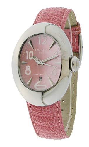 Locman New/Women's Watch/Mother of Pearl Dial/Steel Case/Pink Leather Strap/Ref. 002800MP0005STP