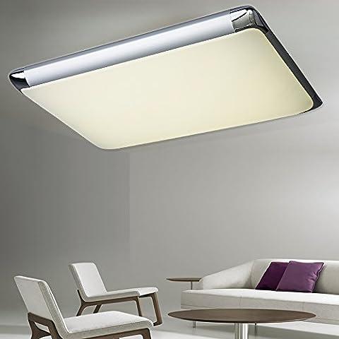 Natsen® 90W LED Deckenlampe Deckuchte Silber Warmweiß Kaltenleweiß Neutralweiß dimmbar mit Fernbedienung ) (I507C-80W-WJ)