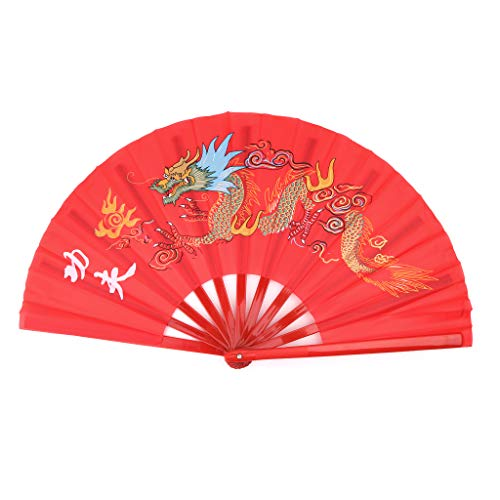 Abanico Chino de dragón para la práctica del Tai chi/Danza, Taiji Kung-fu,...