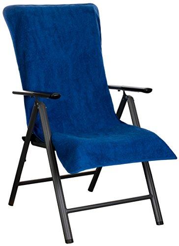 Brandsseller Frottee-Schonbezug für Gartenstuhl und Gartenliege sowie als Strandliegenauflage - aus...