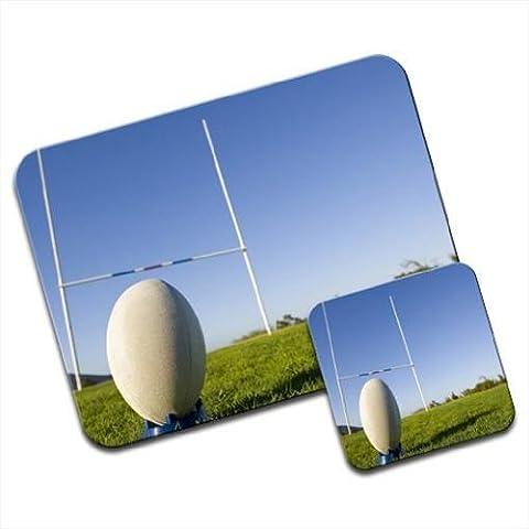 Palla da Rugby su dischetto & Tappetino per mouse e