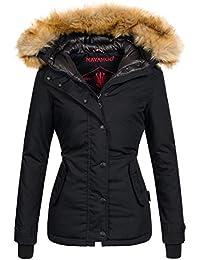 Navahoo warme Damen Winter Jacke Winterjacke Parka Mantel Kunstfell B392