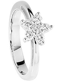Diamond Line Damen - Ring 750er Gold 6 Diamanten ca. 0,40 ct., weißgold