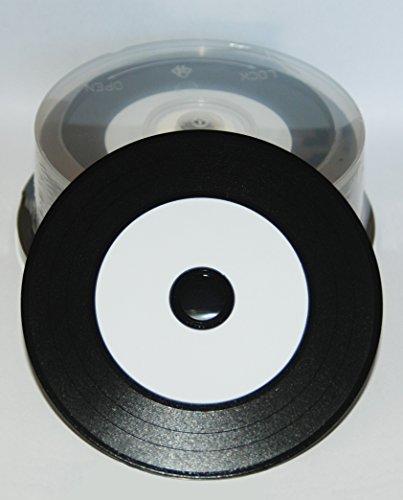 Preisvergleich Produktbild NMC Vinyl CD-R Printable,  Carbon Dye komplett Schwarze Rückseite 25 Stück