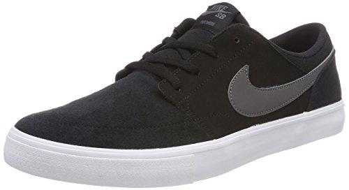 Nike SB Portmore II Solar, Zapatillas de Skateboard para Hombre, Negro (Black/Dark Grey/White 001), 44 EU