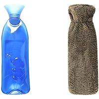 Sicheres PVC-Wärmflasche mit Abdeckung Warm halten für Erwachsene oder Kind 1,0 Liter (Verbrühschutz # 04) preisvergleich bei billige-tabletten.eu