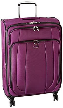 Delsey Luggage Helium Cruise 25 Inch EXP Spinner Suiter Trolley, Purple, One Size
