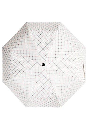 HYHAN Regenschirm Damen kleine frische UV-Sonnenschutz 30 Prozent Vinyl Regenschirm (Sunny Day oder einem regnerischen Tag verwenden können) , white