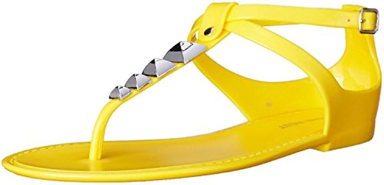 Nine West Women'S Dyligence Synthetic Jelly Sandal, Yellow, 41.5 B(M) EU/8.5 B(M) UK