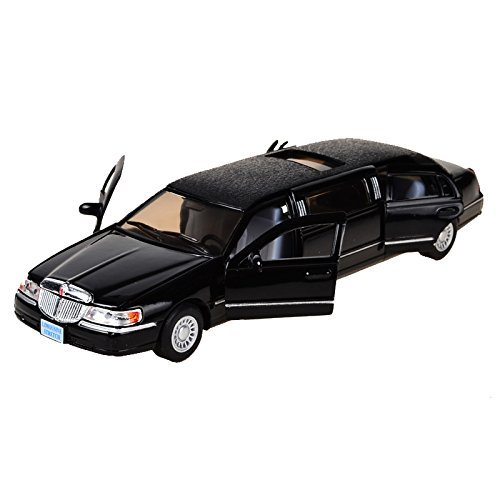Kumar-Toys-Kinsmart-Die-Cast-Metal-1999-Lincoln-Town-Limousine-Car-Multicolor