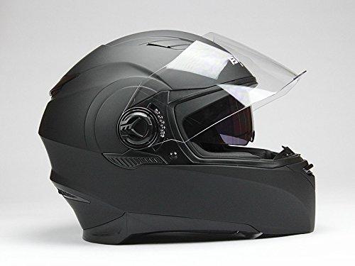 BNO F06 Schwarz Matt Integralhelm, Motorradhelm, Integralhelm, Helm in der Größe L
