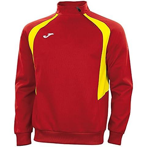 Joma Felpa Champion III Senza Zip Red/Yellow, Taglia: L - Red Jogger