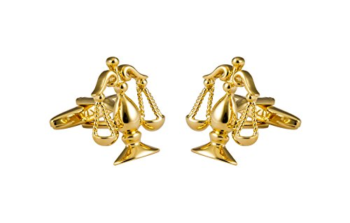 Knighthood Golden Scales of Justice Attorney Lawyer Cufflinks For Men