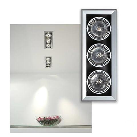 SLV aixlight mod 3 qrb111 mur et deckeneinbauleuchte maximum 50 w 154032 des systèmes