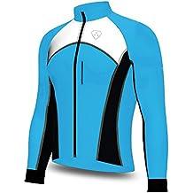 Softshell viento stoper bicicleta de carretera bicicleta Ciclismo chaqueta Top Térmico Completo saleeve, color SKY BLUE/BLACK/WHITE, tamaño 2XL