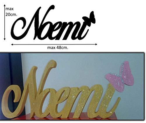 Scritta Personalizzata Nome in Polistirolo/Polistirene larghezza max 50cm