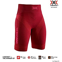 X-Bionic Effektor 4.0 Run Shorts, Mujer, namib Red/Neon Flamingo, L
