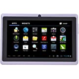 """7"""" inch Touch Screen Allwinner A13 1.0GHz CPU  Android 4.0 Tablet PC 4GB HDD 512MB WiFi (Purple)"""