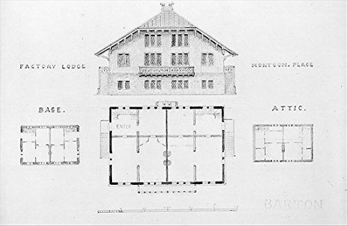 Alexander Jackson Davis - Switz[erland] Cottage (elevation and three plans) and Factory Lodge (elevation and three plans) for Montgomery Place Annandale-on-Hudson New York Kunstdruck (45,72 x 60,96 cm) - Jackson Lodge