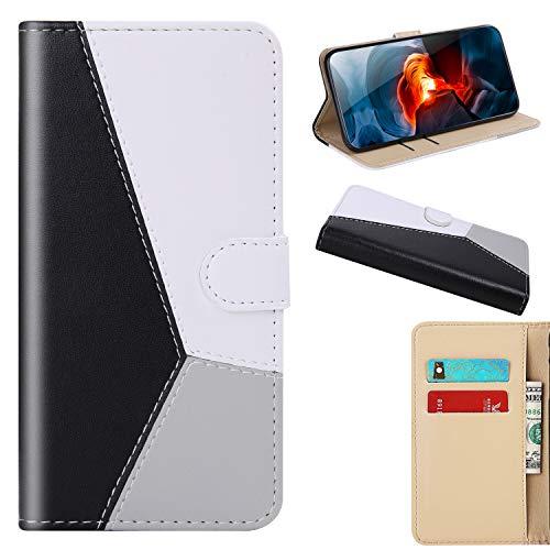 Momenten Schutzhülle kompatibel mit Samsung Galaxy J3 2016 [Klassische Tricolor-Serie] Handyhülle für Samsung Galaxy J3 2016, Schwarz/Weiß/Grau