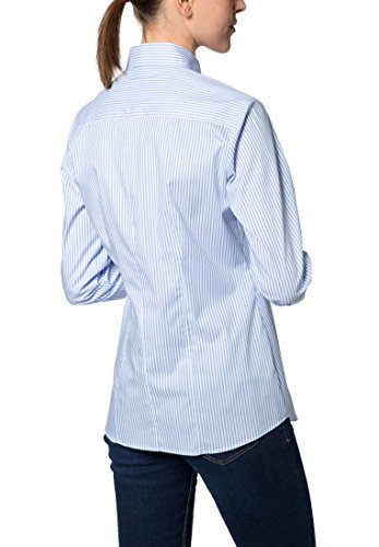 Eterna Chemisier à Manches Longues Modern Classic Rayé bleu clair/blanc