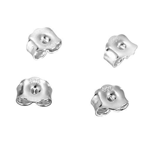 Valyria 925Sterling Silber Ohrring Rücken Stopper Schmuckteile 5Paar, Silber, silber, 5mmx4.5mm#1