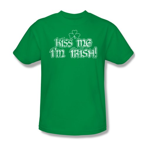 Kiss Me I'M Irish-Maglietta da uomo, colore verde Kelly Verde - Kelly green