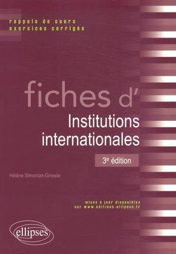 Fiches d'Institutions Internationales