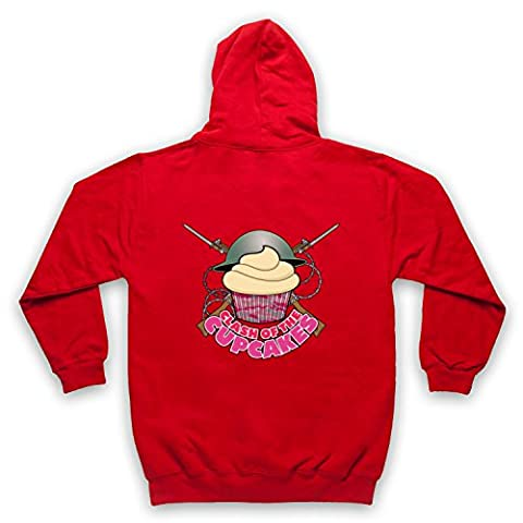 Master Of None Clash Of The Cupcakes Adults Zip Hoodie, Red, Small