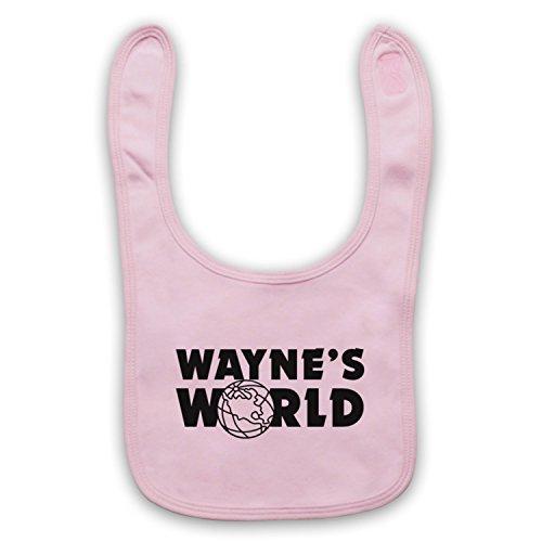 Inspiriert durch Wayne's World Logo Inoffiziell Baby Latzchen, Hellrosa