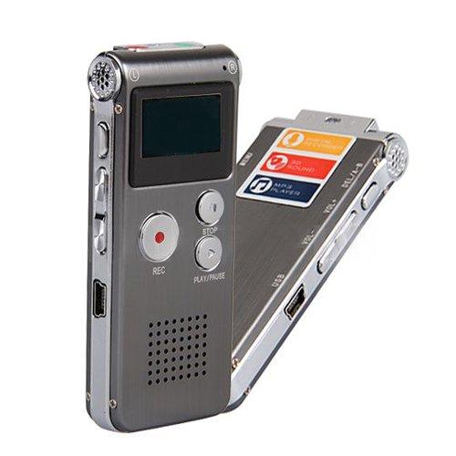 Digitales Diktiergerät Voice-Recorder MP3-Aufnahmegerät 4GB Audio Voice Recorder Telefon-Recorder, Micro SD-Kartenslot, USB-Anschluss, inklusive Stereo-Kopfhörer - 4 Gb-4g Microsd