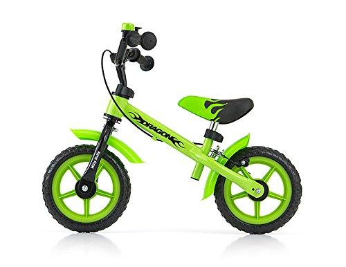 Milly Mally 0301–Bicicleta Tipo sin Pedales para niños Ruedas de 10Pulgadas con Frenos y Timbre