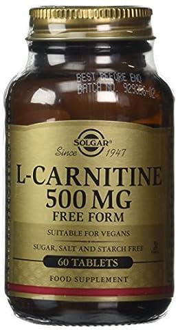 Solgar 500 mg L-Carnitine Tablets - 60 Tablets
