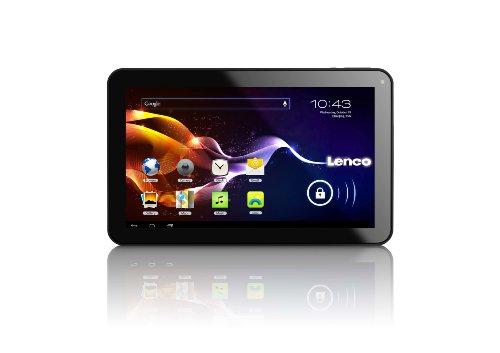 Lenco CARTAB-925 22,8 cm (9 Zoll) Tablet-PC (ARM Cortex-A8 Allwinner A13 Dual Core, 1,2GHz, 1GB RAM, 8GB SSD, 2 Kameras, USB, Micro SD-Kartenleser, HDMI, Android 4.2) mit Auto-Zubehör schwarz (Kamera Wifi-sd-kartenleser Für)