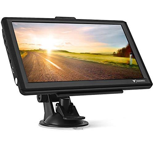 GPS Navi Navigationsgeräte für Auto,7 Zoll 8GB 256MB Touchscreen Navigation für LKW PKW KFZ,POI Blitzerwarnung Sprachführung Fahrspurassistent 2019 Europa Karten