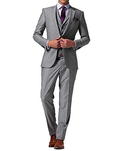 GEORGE Herren Anzug Tuxedos Smokingsakko Anzuege 3-Teilig Anzug Sakko,Anzug Hose,Weste 154,M