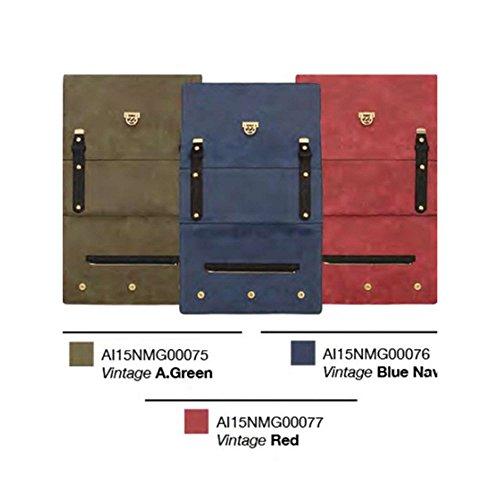 Numeroventidue MEDIUM TURTLE GUSCIO Borse Accessori Vintage Vegan Leather Navy Navy TU