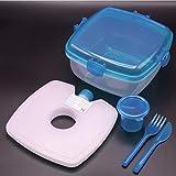 Die besten Lunch Box Kühlakkus - HAC24 Lunchbox-Set Salat-to-Go | Frischhalte-Box mit Kühlakku und Bewertungen