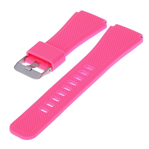 prettygood7 Sportarmband aus Silikon für Samsung Gear S3 Uhr, rosa