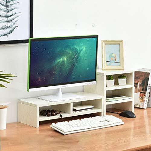 Speicher-rack-ständer (KKCD Multimedia-Desktop-Ständer Büro-Desktop-Computer-Riser-Ständer Desktop-Speicher-Rack-Auflage Hohe Bildschirm-Regalanzeige (Farbe : C))