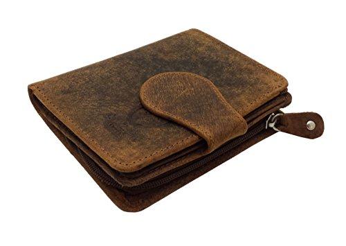 BLOCAGE RFID Ladies Designer J WILSON Londres qualité affligé chasseur huilé carte en cuir porte monnaie portefeuille portefeuille