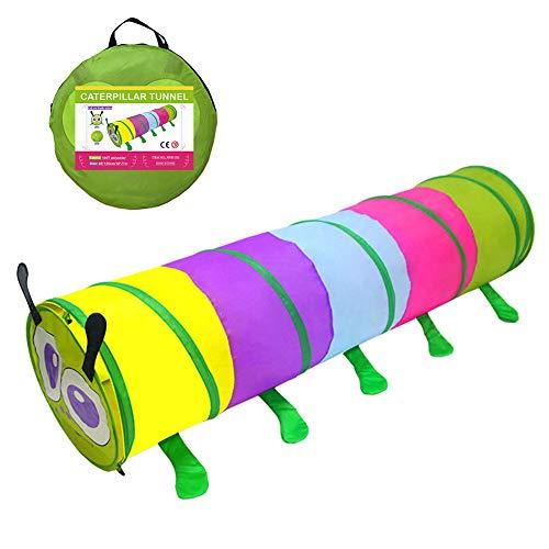 TENCMG Tunnel Pop-Up Cute Insect per Bambini - Gioca a Crawl Tunnel Toy - Adatto a Tutti i Tipi di Tende Giocattolo/Toy Ball Pits/Castle Tents - Orange 70,9'x18 (180x46cm)