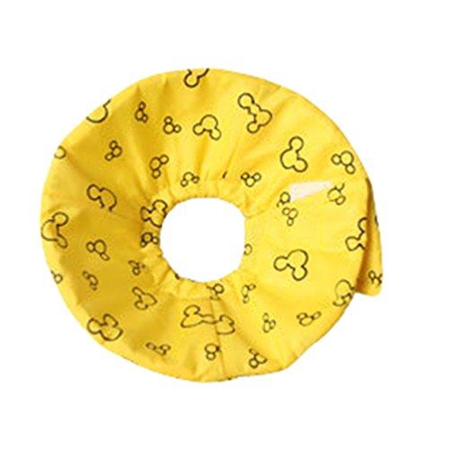 JEELINBORE Niedlich Bequem Stoffkragen Schutzkragen Tierhalskrause Halskrause für Kleintiere Hamster (Gelb, Durchmesser: 5cm)