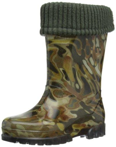 Toughees Shoes Kids Camo Fleece-lined Wellington Boot