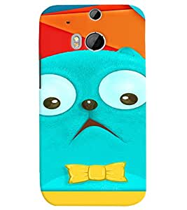 PRINTVISA Cartoon Cat Case Cover for HTC One M8